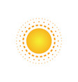 abstract sun dot logo image vector image vector image