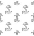 anchor and rope grey seamless pattern vector image vector image