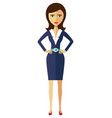 angry unhappy flat cartoon office business woman vector image vector image