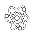 Atom science chemistry vector image vector image