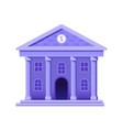 bank building icon in flat gradient design vector image