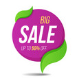 big sale label price tag banner sticker badge vector image vector image