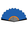 blue fan on white background vector image vector image