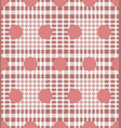 check and polka dot fashion seamless pattern vector image vector image