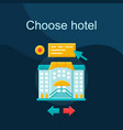 choose hotel flat concept icon vector image vector image