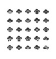 cloud computing solid icon set vector image vector image