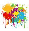 color paint splashes vector image vector image