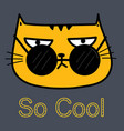 cool cat with sunglasses vector image vector image