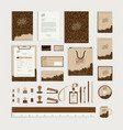 corporate identity design template with coffee vector image