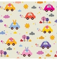 cute animals driving cars note book paper kids vector image vector image