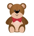 cute bear teddy isolated icon vector image vector image