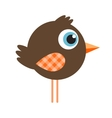 Cute cartoon brown bird vector image vector image