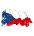czech republic flag grunge vector image vector image
