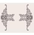decor floral ornaments vector image vector image