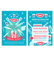 dental clinic services poster with procedures list vector image vector image