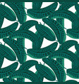 emerald green palm leaves dense bold seamless vector image