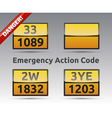 Emergency Action Code ADR vector image
