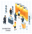 exhibition stand isometric vector image vector image