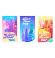 explore world typography banner set vacation vector image