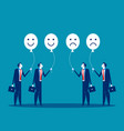 feelings employees concept business vector image