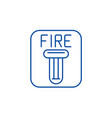 fire safety line icon concept fire safety flat vector image