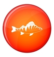 Fish icon flat style vector image vector image