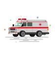 flat ambulance vector image vector image