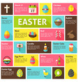 flat design icons infographic easter concept vector image