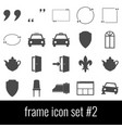 frame icon set 2 gray icons on white background vector image vector image