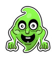 funny cartoon ghost on white background happy vector image vector image