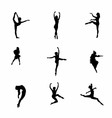 Girl dance icon symbol vector image vector image