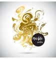 Gold marble background banner vector image