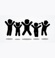 group of children jumping icon vector image