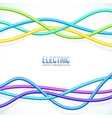 hanging colored cables background vector image vector image