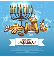 Hanukkah Infographics Set vector image