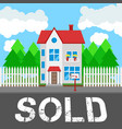 House sold along the road part of the rural and vector image