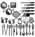 kitchen ware collection vector image