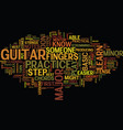 learn to play guitar free lessons text background vector image vector image