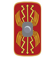 Legionary shield vector image vector image