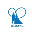 logo for wedding vector image