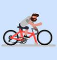 man rides a bicycle vector image vector image