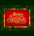 merry christmas calligraphy text banner vector image vector image
