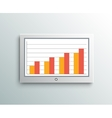 Monitor screen business element vector image
