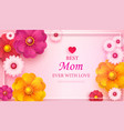 mother s day greeting card with square frame and vector image