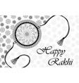 nt045 happy rakhi lineart vector image vector image