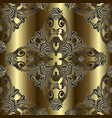 ornate baroque gold seamless pattern surface vector image vector image