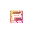 p maze letter logo icon design vector image
