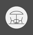 patio icon sign symbol vector image vector image