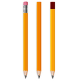 pencils with eraser vector image vector image