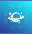 planet icon astronomy space exploration vector image vector image